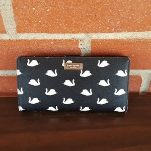 Kate Spade Saffiano leather Swan wallet